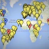 Carte mondiale des budgets participatifs réalisée à l'initiative de Tiago Peixotto