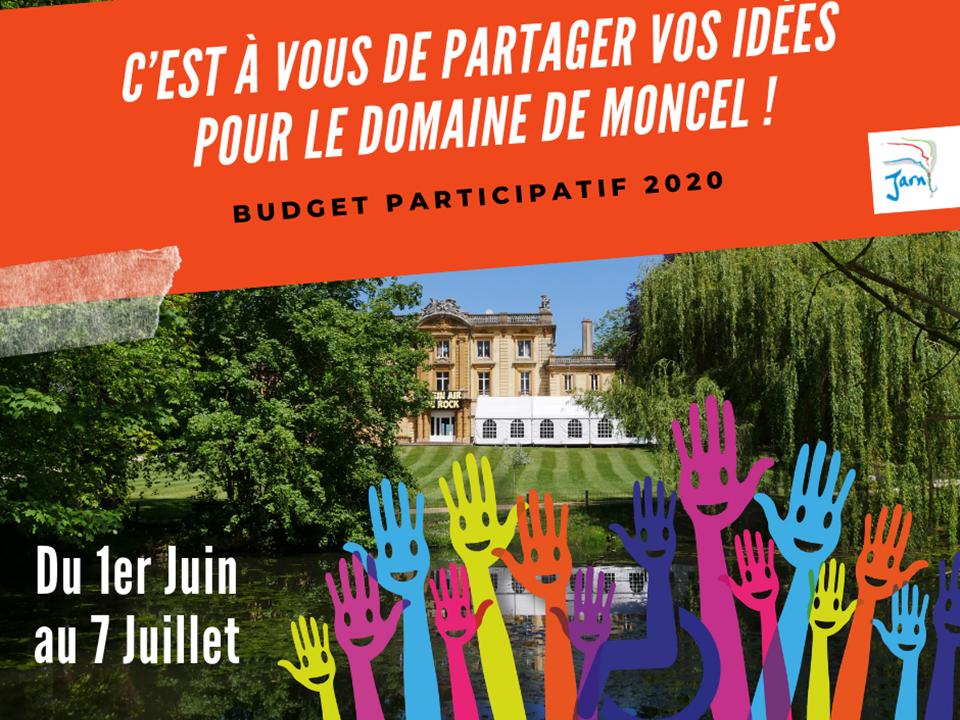 Affiche Budget participatif Jarny 2019 : en 2020, la ville de Jarny a choisi de consacrer le budget participatif au parc municipal.